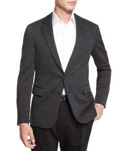 Ralph Lauren Black Label | Daniel Two-Button Sweater Jacket Charcoal Grey Mens Size 42r