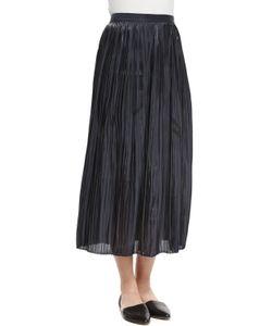 Tibi | Pleated Midi Skirt Black Womens Size 10