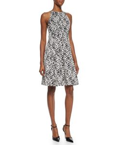 Jason Wu | Pleated Printed Silk Flounce Dress