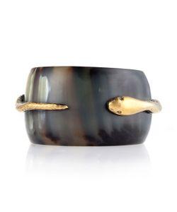 Ashley Pittman | Dark Horn Snake Bangle Bracelet Womens Gold