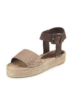 Vince | Edina Espadrille Platform Sandal Bronze