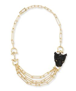 Alexis Bittar | Crystal Panther Multi-Strand Necklace