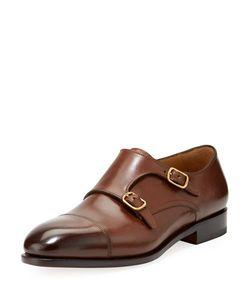 Salvatore Ferragamo | Leather Double Monk Shoe
