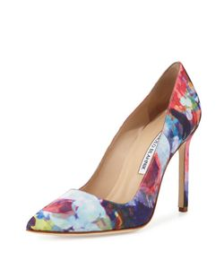 Manolo Blahnik | Bb Print Satin Pump