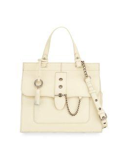 Badgley Mischka   Beulah Leather W Chain Detail Satchel Bag
