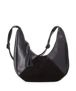 Oliveve | Cezy Leather And Suede Hobo Bag