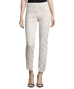 Kaufmanfranco | Kaufman Franco Moroccan Lace Skinny-Leg Pants Ivory Womens Size 10