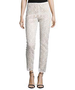Kaufmanfranco | Kaufman Franco Moroccan Lace Skinny-Leg Pants Ivory Womens Size 10