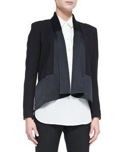 Jason Wu | Long-Sleeve Drape-Front Cardi Jacket Womens Size S Black