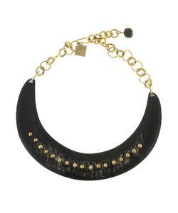 Ashley Pittman | Studded Collar Necklace Dark Horn
