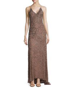 Jason Wu   Embellished Halter-Neck Gown Tobacco Black Womens Size 2