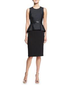 Michael Kors Collection | Belted Shantung Peplum Sheath Dress