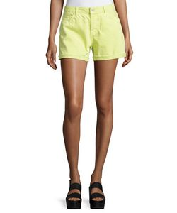 J Brand Jeans | Cuffed Cut-Off Jean Shorts Lime Sherbet Womens Size