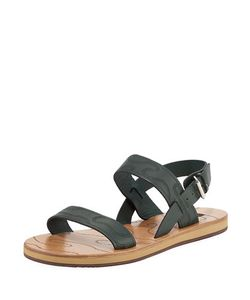 Valentino | S Camouflage Leather Buckle-Strap Sandal