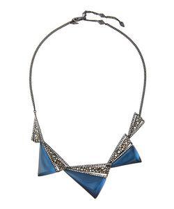 Alexis Bittar   Crystal-Encrusted Graduated Origami Bib Necklace