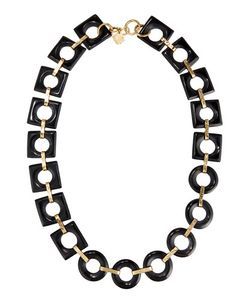 Ashley Pittman | Mbele Geometric Dark Horn Link Necklace