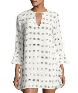 C/Meo | Spelt Out 3/4-Sleeve Printed Dress