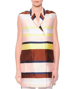 MSGM | Striped Shantung Suit Vest