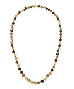 Ashley Pittman | Haba Horn Bronze Beaded Rope Necklace