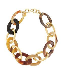 Ashley Pittman | Kiungo Large Horn Bronze Link Necklace