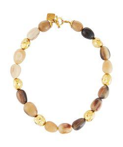 Ashley Pittman | Hanja Mixed Horn Egg Bronze Beaded Necklace
