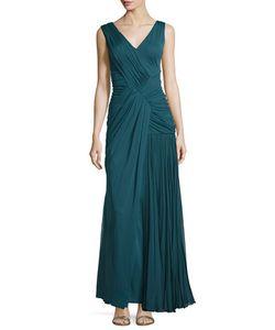J. Mendel | Sleeveless Plisse Draped Gown