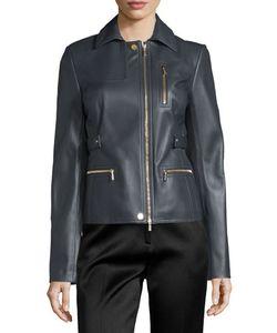 Jason Wu | Zip-Pocket Lamb Leather Field Jacket