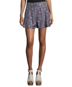 Derek Lam 10 Crosby   Pleated Floral Shorts