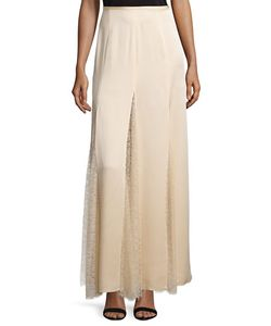 Michael Kors Collection | Lace-Inset Godet Maxi Skirt
