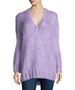 Michael Kors Collection | Long-Sleeve V-Neck Sweater
