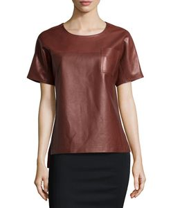 Jason Wu | Short-Sleeve Leather Tee