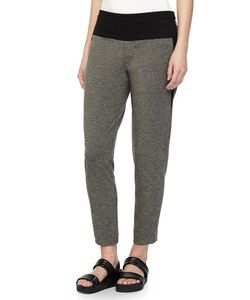 Halston Heritage | Tapered Sweatpants Dark Heather/Charcoal
