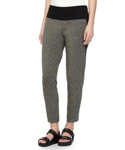 Halston Heritage | Tapered Sweatpants Dark Heather/Charcoal