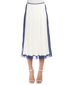 Victoria Beckham | Pleated Skirt W/Sheer Trim