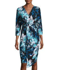 Michael Michael Kors | Pleat-Front 3/4-Sleeve Dress