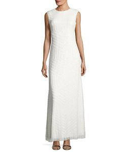 Vera Wang | Sequined Back-Cutout Sleeveless Gown
