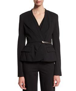 Donna Karan | Long-Sleeve Peplum Jacket