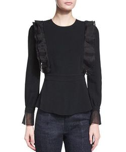 Co | Long-Sleeve Ruffled Top