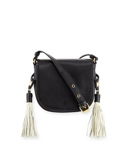 Badgley Mischka | Bailey Pebbled Saddle Bag