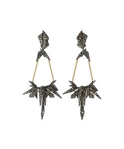 Alexis Bittar   Two-Tone Crystal-Encrusted Dangle Earrings