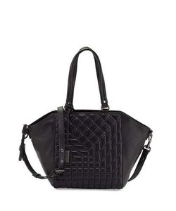 Badgley Mischka | Frankie Quilted Leather Satchel Bag