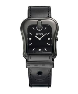 Fendi | 43mm B. Diamond Buckle Watch With Leather Strap