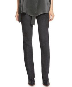 Narciso Rodriguez | Seamed Suede Straight-Leg Pants
