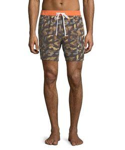 Michael Bastian | Camouflage-Print Swim Trunks