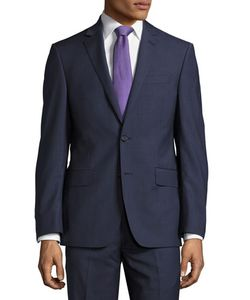 DKNY | Check-Print Slim-Fit Two-Piece Suit