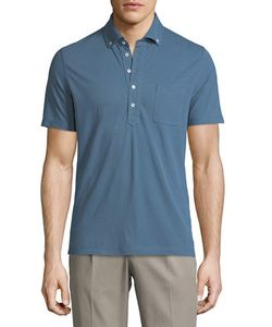 Brunello Cucinelli | Short-Sleeve Tipped Pique Polo Shirt