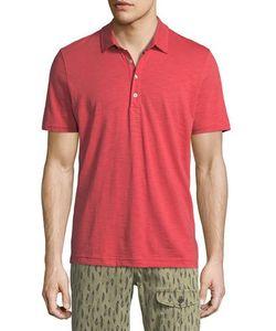 Michael Bastian | Short-Sleeve Cotton Slub Polo Shirt