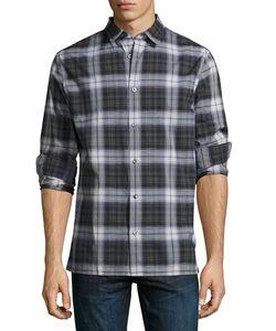 Vince | Linen-Blend Plaid Sport Shirt Multi