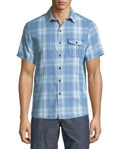 Michael Bastian | Sand-Washed Short-Sleeve Plaid Shirt