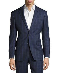 DKNY   Check-Print Two-Button Wool Suit